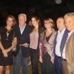nella foto: Margherita Buy, Giorfio Fazzini, Claudia Gerini, la ricercatrice Nicoletta Landsberger, Silvio Orlando ed il Dottor Giorgio Pini.
